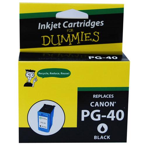 Cartouche d'encre noire pour Canon d'Ink For Dummies (DC-PG40 BK)