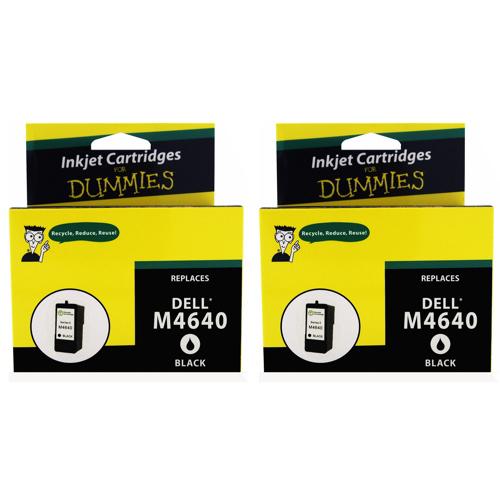 Cartouche d'encre noire pour M4640 de Dell d'Ink For Dummies (DD-M4640 (2PK)) - Paquet de 2