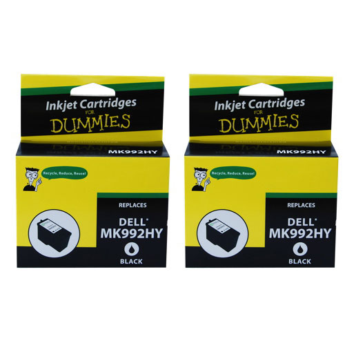 Ink For Dummies Dell Black Ink (DD-MK992HY (2PK)) - 2 Pack