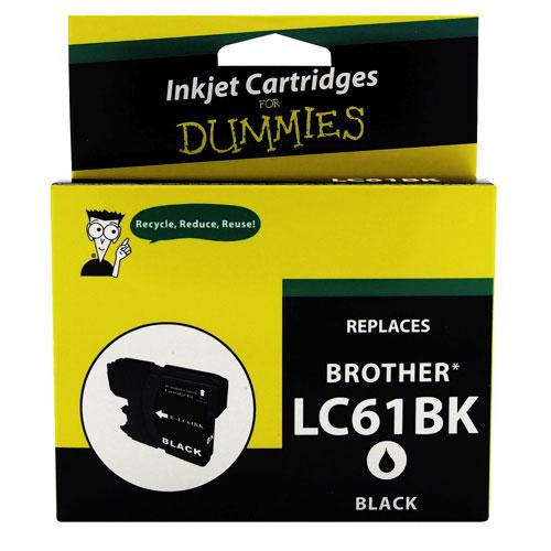 Cartouche d'encre noire pour Brother d'Ink For Dummies (DB-LC61BK)