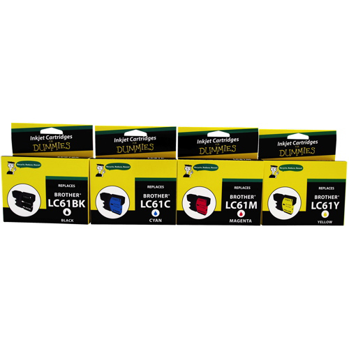 Ink For Dummies Brother CMYK Ink (DB-LC61) - 4 Pack