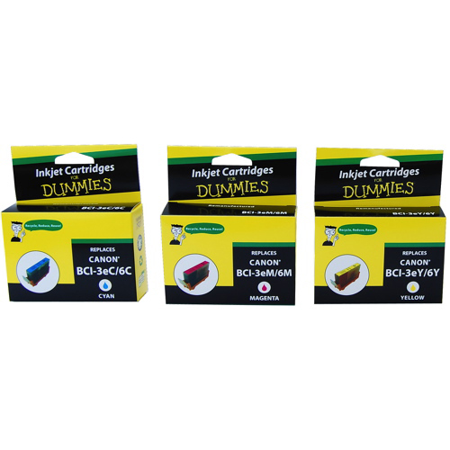 Ink For Dummies Canon CMY Ink (DC-BCI3/6 (3PK)) - 3 Pack