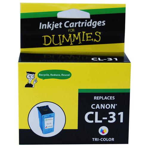 Cartouche d'encre tricolore pour Canon d'Ink For Dummies (DC-CL31 CL)