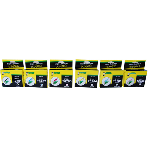Ink For Dummies Epson CMYK Ink (DE-T078) - 6 Pack