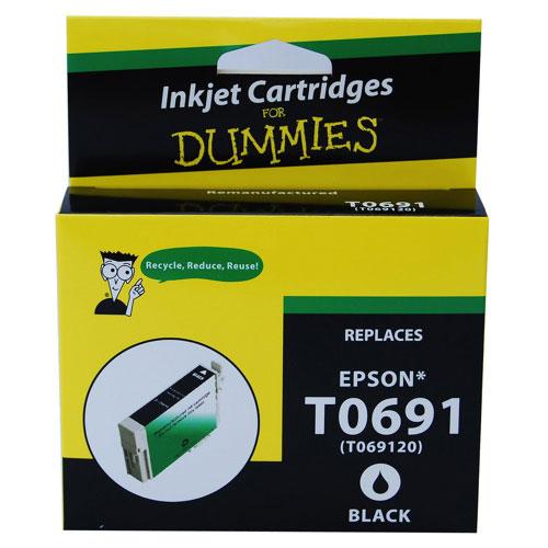 Cartouche d'encre noire pour Epson d'Ink For Dummies (DE-T0691)
