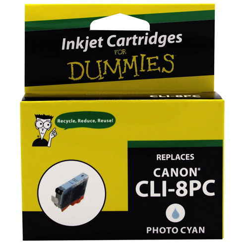 Cartouche d'encre cyan pour Canon d'Ink For Dummies (DC-CLI8PC)