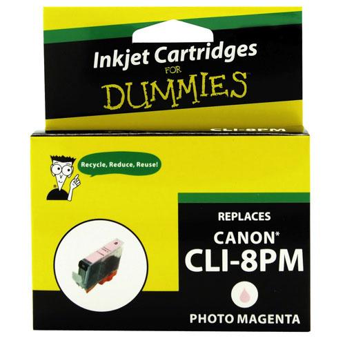 Cartouche d'encre magenta pour Canon d'Ink For Dummies (DC-CLI8PM)