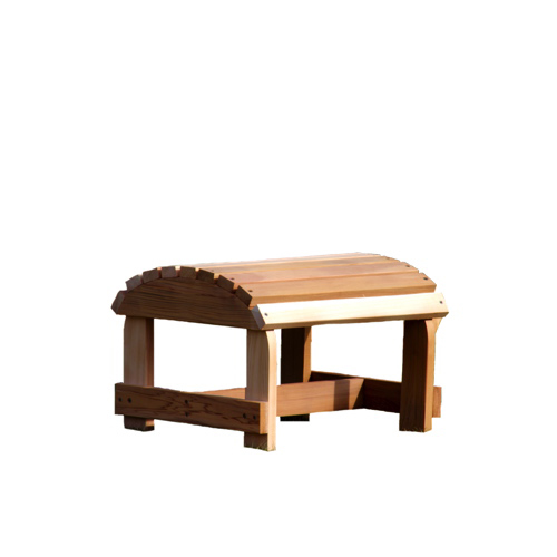 Bear Chair Cedar Patio Ottoman   Red Cedar