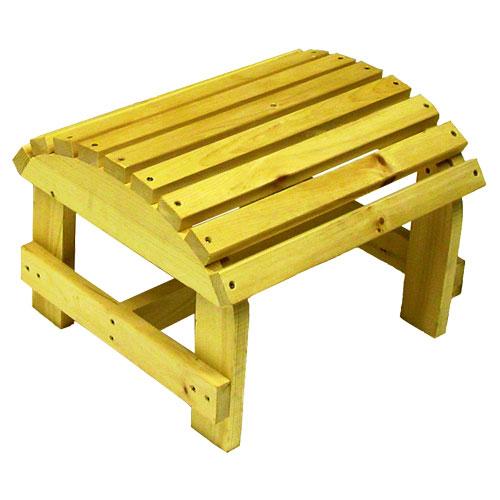 Pouf de patio en pin de Bear Chair - Pin blanc