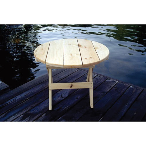 Traditional Round Patio Table - White Pine