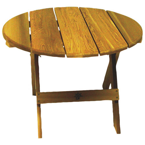 Traditional Round Patio Table - Red Cedar