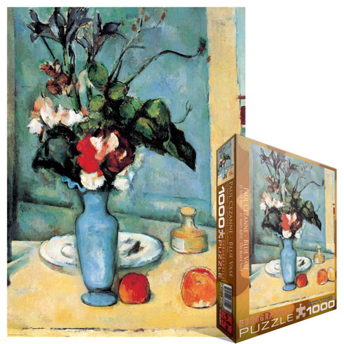 Eurographics Blue Vase By Paul Cezanne Jigsaw Puzzle 1000 Pieces