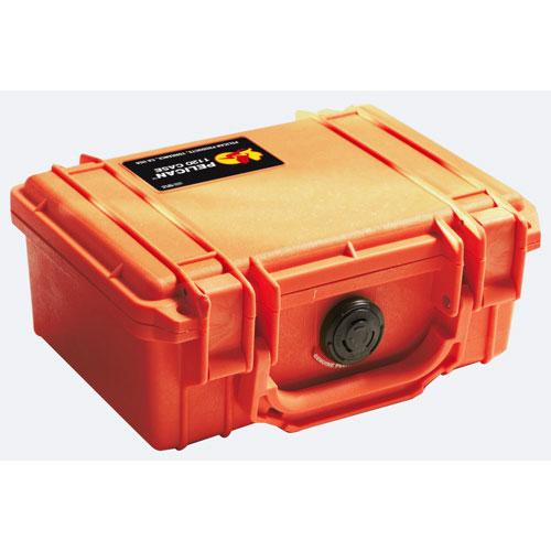 Étui 1120 pour appareil photo avec mousse de Pelican - Orange