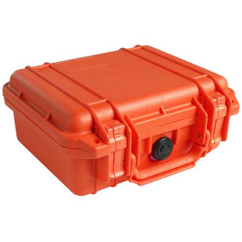 Pelican 1200 Camera Case No Foam - Orange