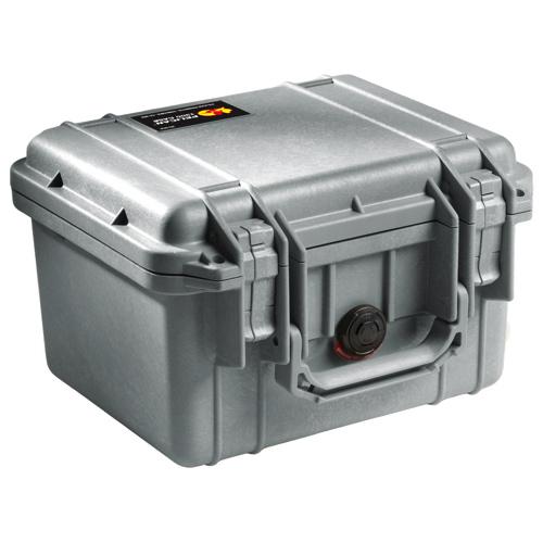 Pelican 1300 Camera Case With Foam - Silver