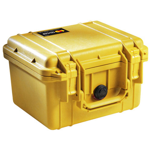 Pelican 1300 Camera Case With Foam - Yellow