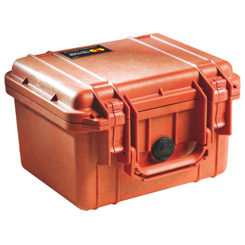 Pelican 1300 Camera Case No Foam - Orange