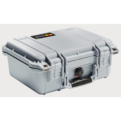 Pelican 1400 Camera Case With Foam - Silver