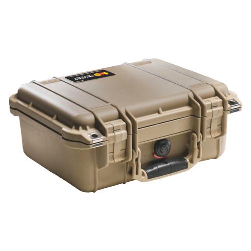 Pelican 1400 Camera Case With Foam - Desert Tan