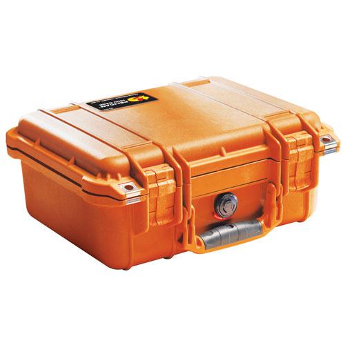 Pelican 1400 Camera Case No Foam - Orange