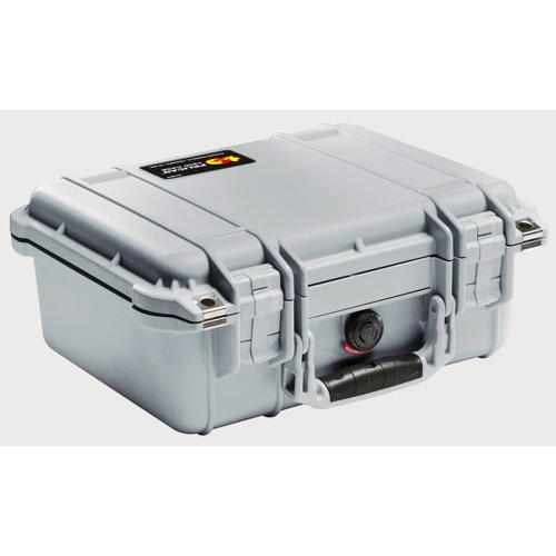 Pelican 1400 Camera Case No Foam - Silver