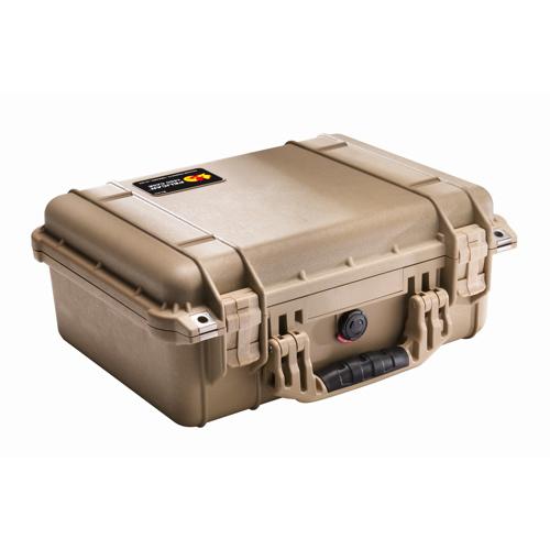 Pelican 1450 Case with Foam - Desert Tan