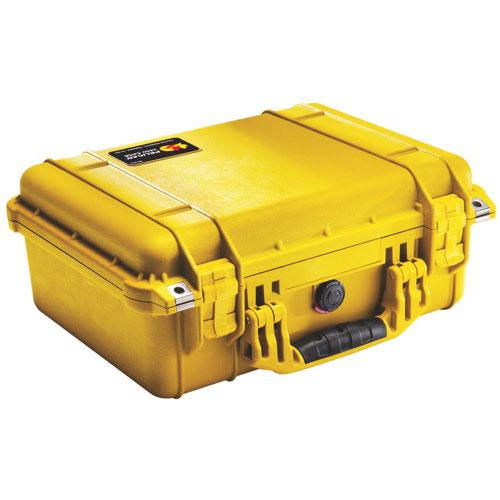 Pelican 1450 Case with Foam - Yellow