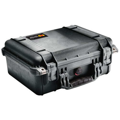 Pelican 1450 Case No Foam - Black