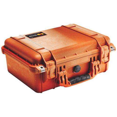 Pelican 1450 Case No Foam - Orange