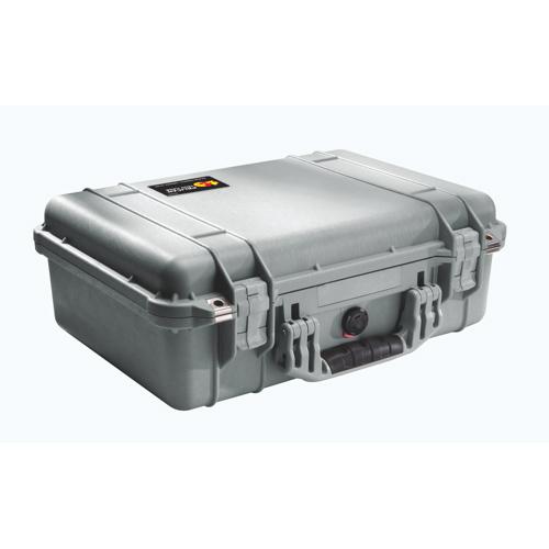 Pelican 1500 Case No Foam - Silver