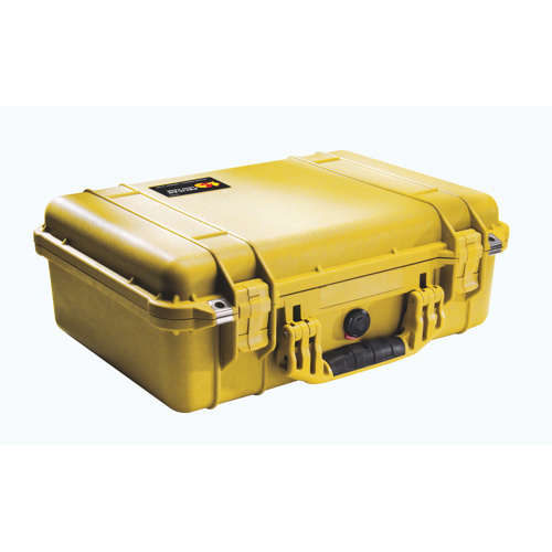 Pelican 1500 Case No Foam - Yellow