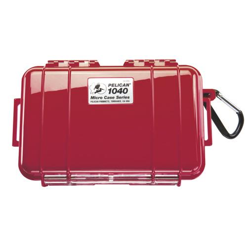 Étui Micro de Pelican (1040) - Rouge