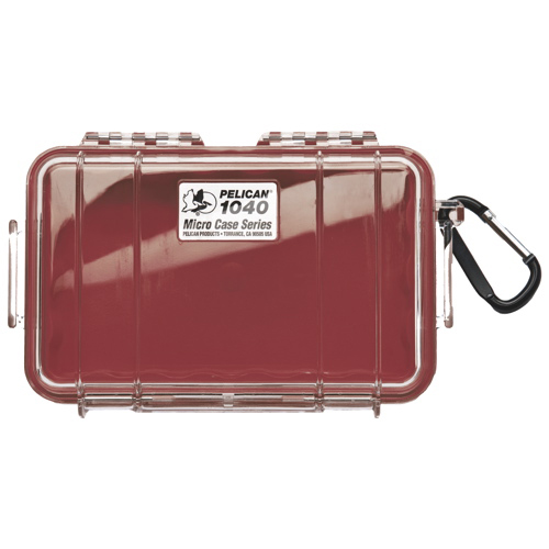 Pelican Micro Case 1040 - Clear Red
