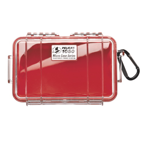 Pelican Micro Case 1050 - Clear Red