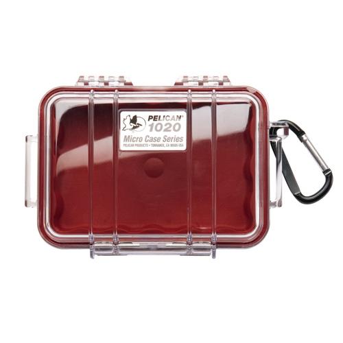Étui Micro de Pelican (1020) - Rouge transparent