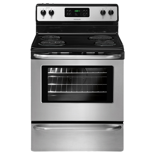 "Frigidaire 30"" 5.3 Cu. Ft. Self-Clean Freestanding 4-Element Electric Coil Top Range-Stainless Steel"