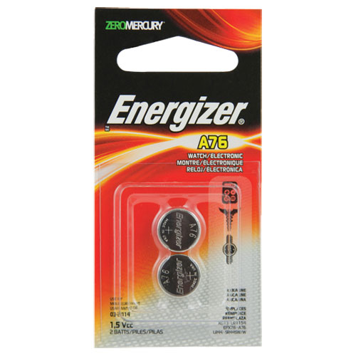 Energizer A76 Miniature Alkaline Battery 2-Pack (A76BPZ2)