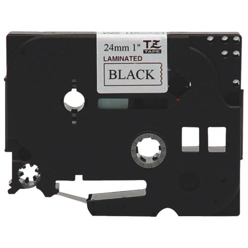 "Brother 1"" Black on White Label Tape (TZE251)"