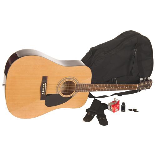 Ensemble avec guitare acoustique de Fender (FA-100) - Naturel