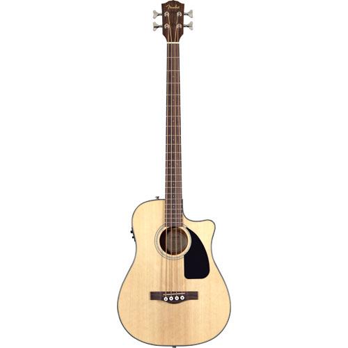 Guitare basse hybride électrique/acoustique classique de Fender (CB-100CE) - Naturel
