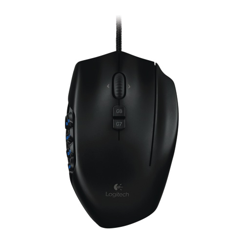 Logitech G600 Laser MMO Gaming Mouse - Black