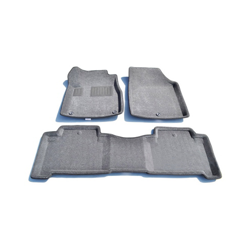 Findway 3D Floor Mats for 2007-2013 Acura MDX (01010BY) - Grey