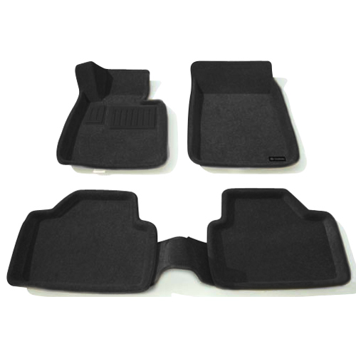 Findway 3D Floor Mats for BMW 3 Series 2007-2011 (09010BB) - Black