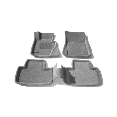 Findway 3D Floor Mats for BMW X3 2004-2010 (09050BY) - Grey