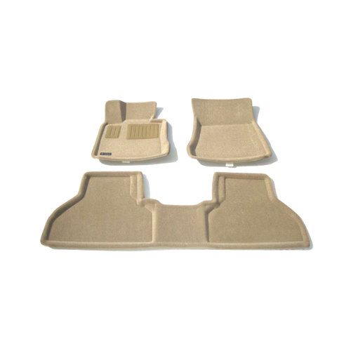 Findway 3D Floor Mats for 2007-2013 BMW X5/X6 SUV (09070BG) - Beige