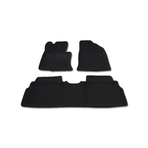 Findway 3D Floor Mats for 2011-2014 Hyundai Sonata (28120BB) - Black