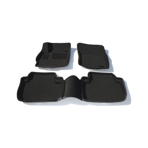 Findway 3D Floor Mats for 2007-2014 Mitsubishi Outlander (43010BB) - Black