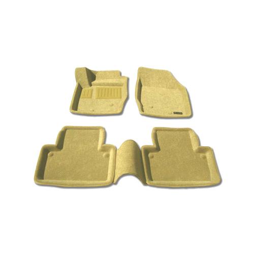 Tapis de sol 3D de Findway pour Volvo XC90 2003-2014 (68020BG) - Beige