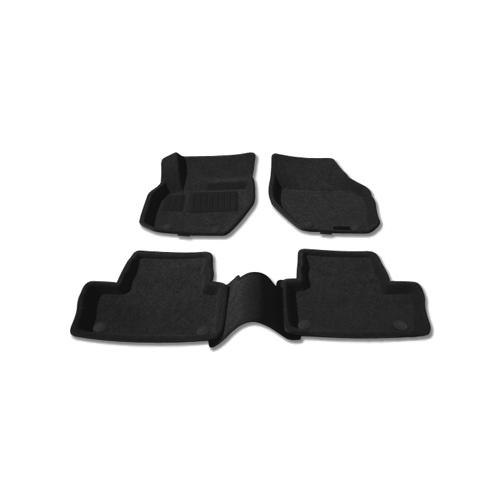 Findway 3D Floor Mats for 2009-2014 Volvo XC60 (68010BB) - Black