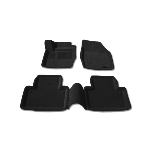Findway 3D Floor Mats for 2003-2014 Volvo XC90 (68020BB) - Black